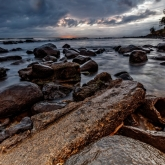 First Light on Burleigh Rocks by Rhonda Ramadge (A Grade) MERIT